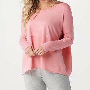 L AnyBody Cozy Knit Oversized Long Sleeve Shirt